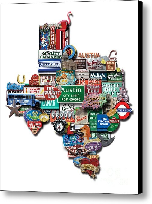 Carl Crum - Austin - Texas Shaped Pho... Print