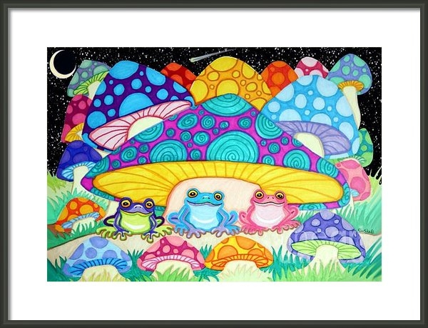 Nick Gustafson - Happy Frogs in the Starli... Print