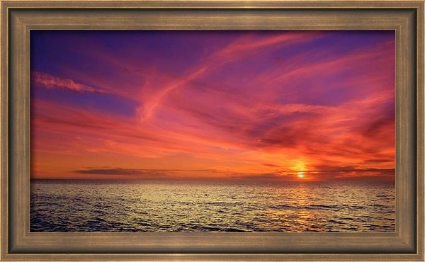 Jeremy Smith - Wispy Horizon Pinks Print