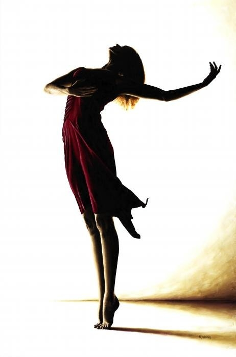 Richard Young - Poise in Silhouette Print