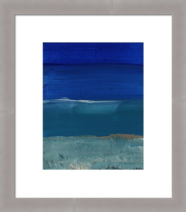 Linda Woods - Soft Crashing Waves- Abst... Print