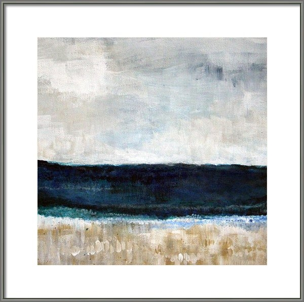 Linda Woods - Beach- abstract painting Print