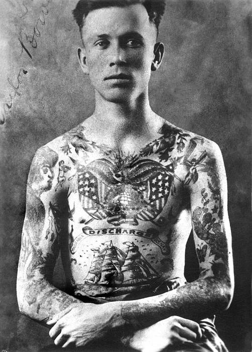 Larry Mora  - Vintage Tattoo Photograph... Print