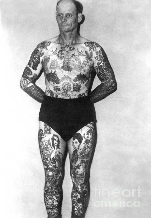 Larry Mora - Tattoo Vintage Photograph... Print