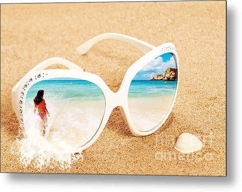 Christopher and Amanda Elwell - Sunglasses In The Sand Print
