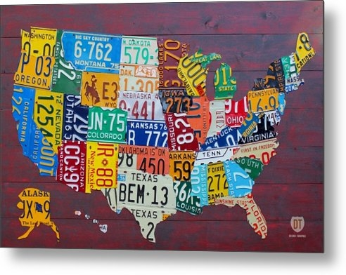 Design Turnpike - License Plate Map of The ... Print