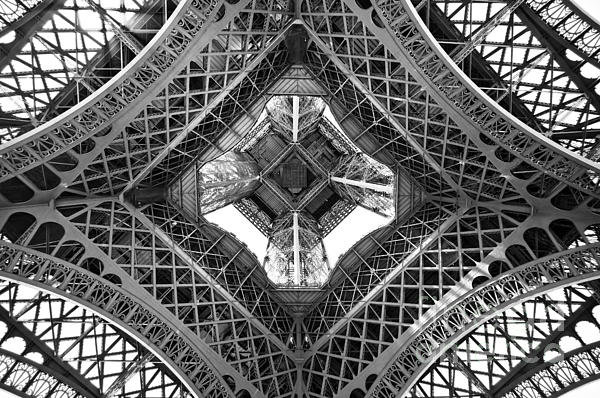 Delphimages Photo Creations - Eiffel abstract Print