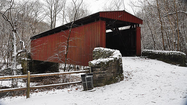 Bill Cannon - Covered Bridge over the W... Print