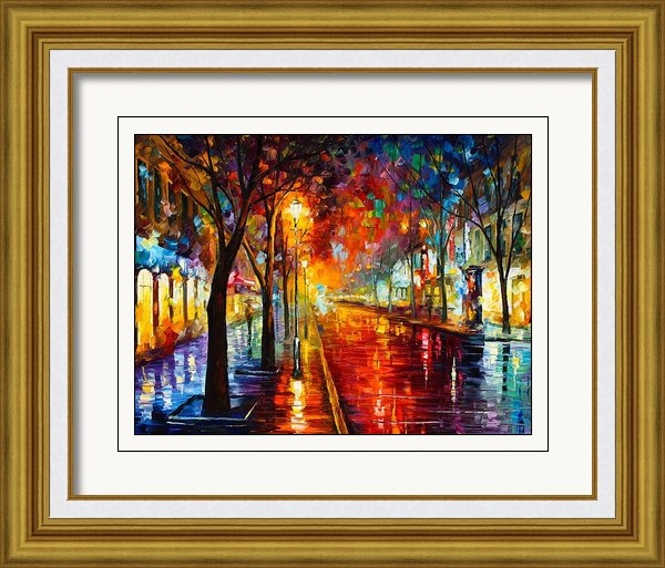 Leonid Afremov - Night In Red Print