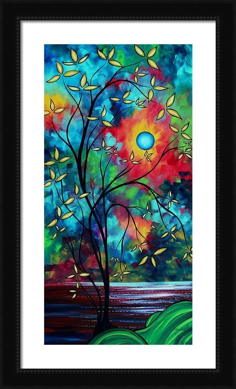 Megan Duncanson - Abstract Art Landscape Tr... Print