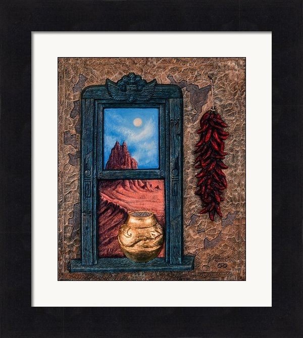 Ricardo Chavez-Mendez - New Mexico Window Gold Print