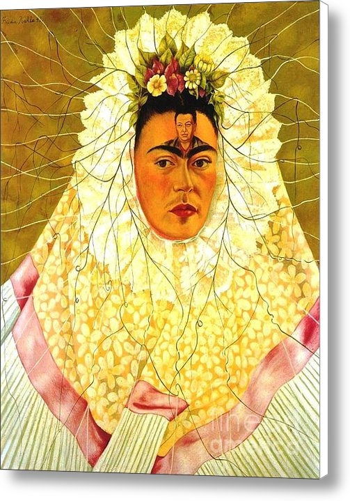 Reproduction - Self portrait - Kahlo Print