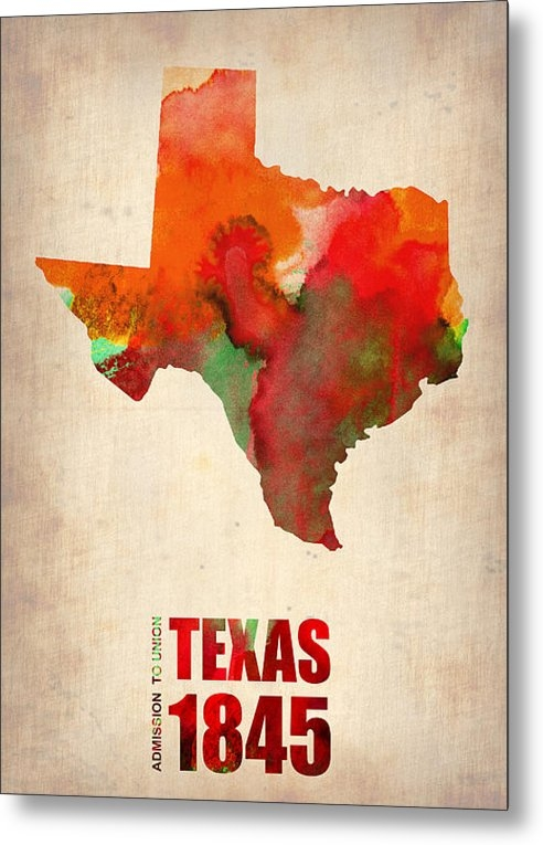 Irina  March - Texas Watercolor Map Print