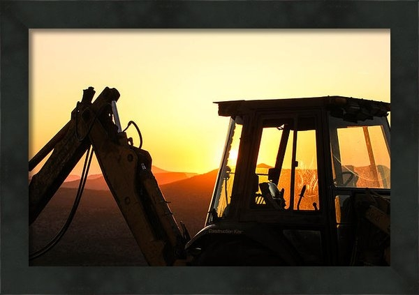 Renny Spencer - Construction Sunrise Print