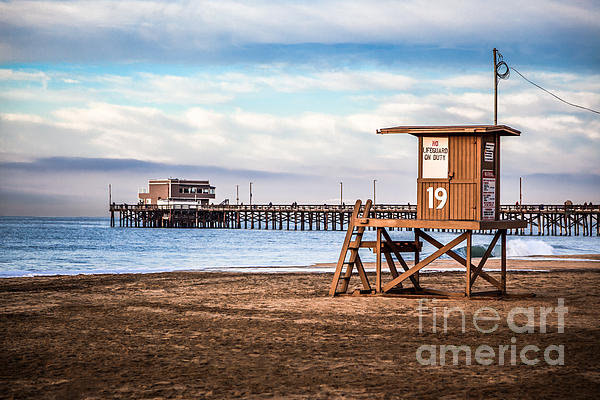 Paul Velgos - Lifeguard Tower and Newpo... Print