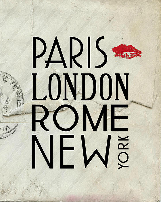 Jaime Friedman - Paris London Rome and New... Print