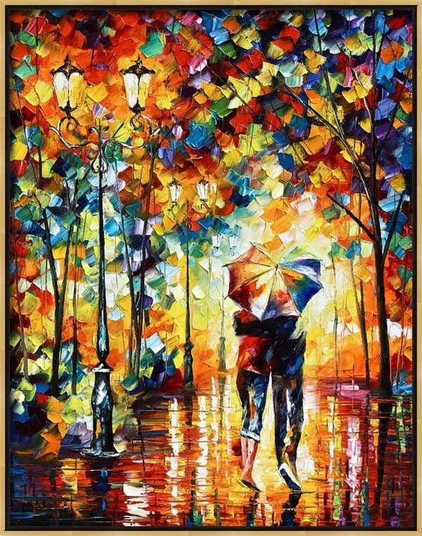 Leonid Afremov - Under one umbrella Print