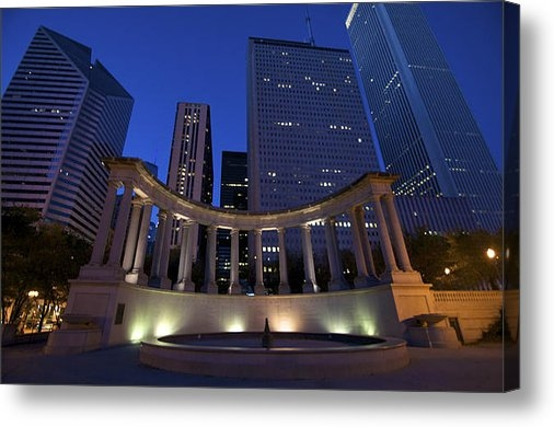 Sheryl Thomas - Wrigley Square at Night Print