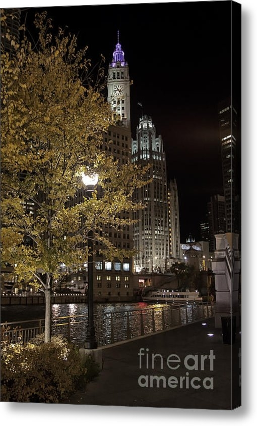 Christopher Purcell - Chicago River on an Autum... Print