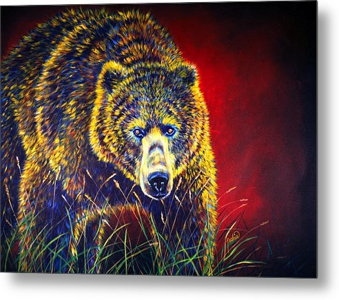 TeshiaArt - Grizzly Gaze Print