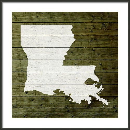 Design Turnpike - Map Of Louisiana State Ou... Print