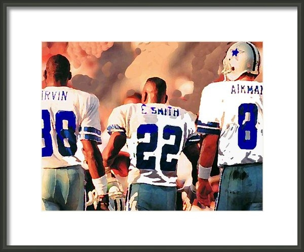 Paul Van Scott - Dallas Cowboys Triplets Print