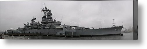 Sven Migot - Battleship NJ Panoramic Print