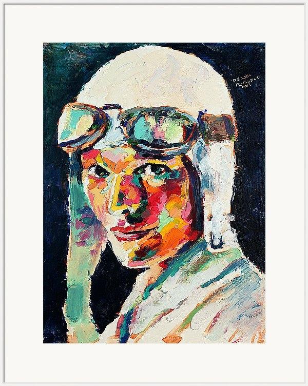 Derek Russell - Amelia Earhart Print