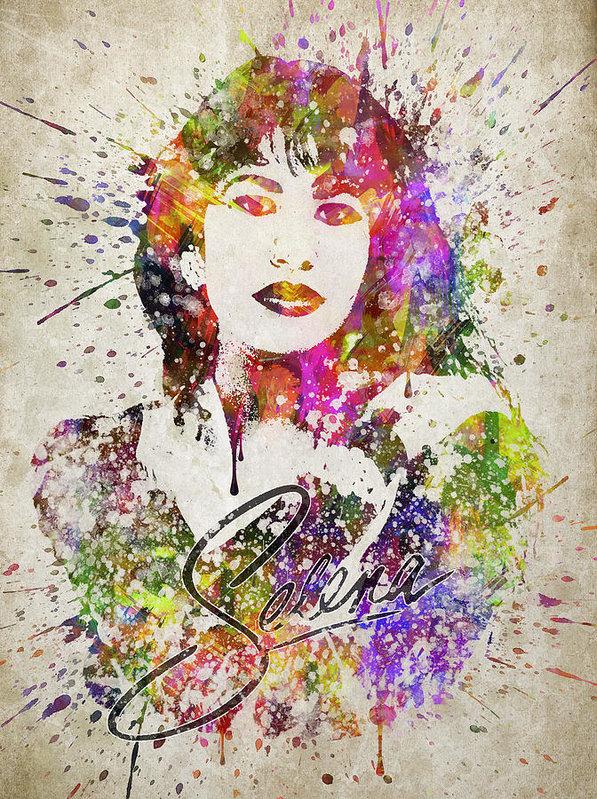 Aged Pixel - Selena Quintanilla in Col... Print