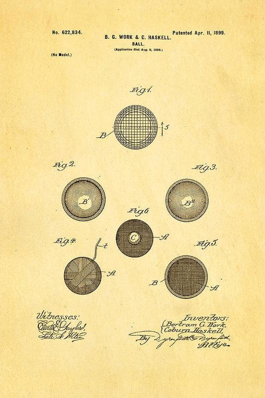 Ian Monk - Haskell Wound Golf Ball P... Print