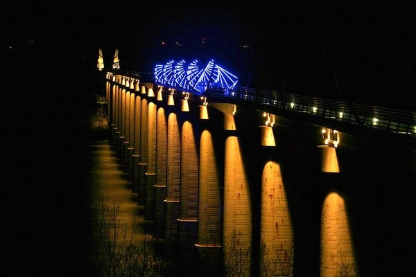 Dale Gerdes - High Trestle Trail Bridge Print