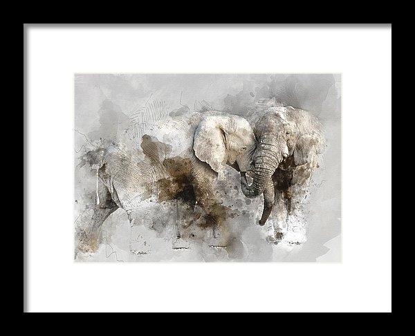 Diana Van - Elephant Love  1 - by Dia... Print