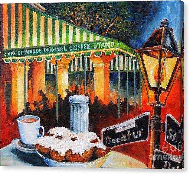 Diane Millsap - Late at Cafe Du Monde Print
