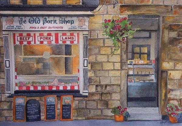 Victoria Heryet - The Butcher Shop Print