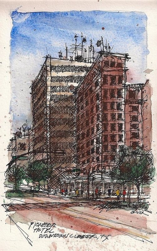 Tim Oliver - The Old Pioneer Hotel Print