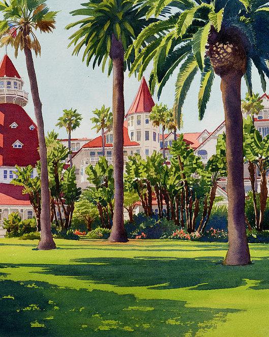Mary Helmreich - Hotel Del Coronado Print