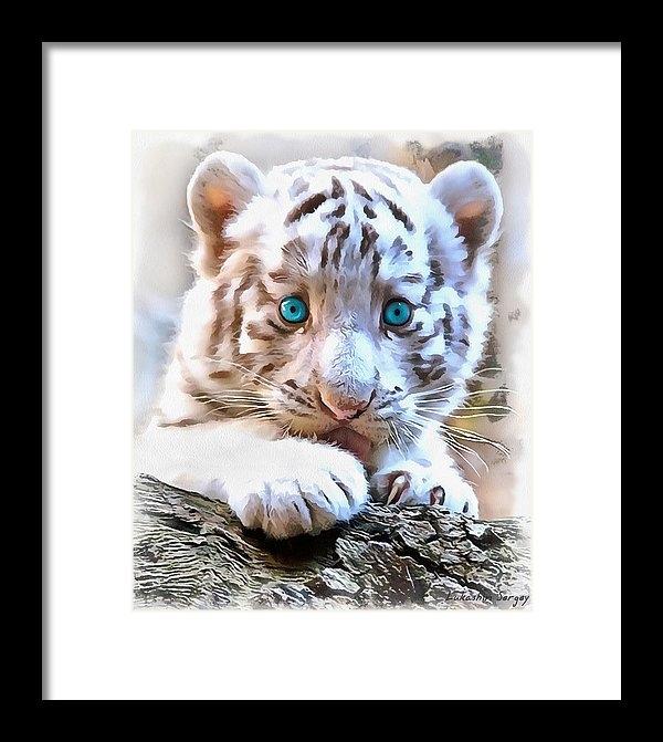 Sergey Lukashin - White tiger cub Print