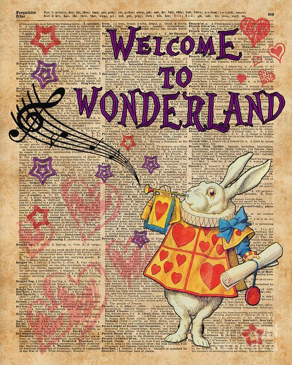 Jacob Kuch - Rabbit Welcome To .. Alic... Print