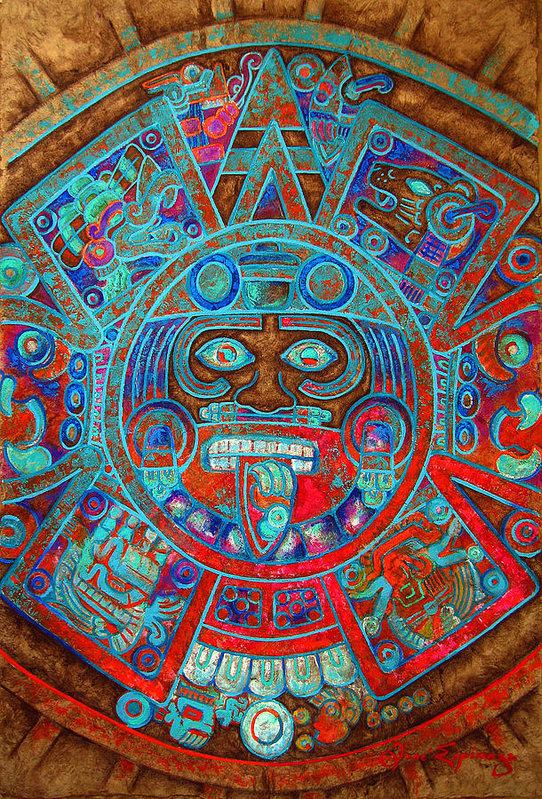 Jose Espinoza - Sun Stone Print