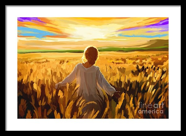 Tim Gilliland - Woman In A Wheat Field Print