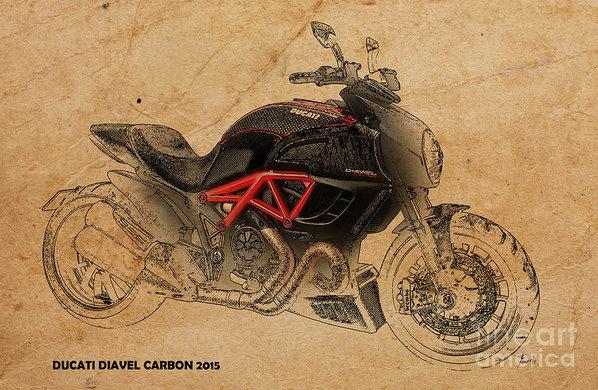 Pablo Franchi - Ducati Diavel Carbon Print