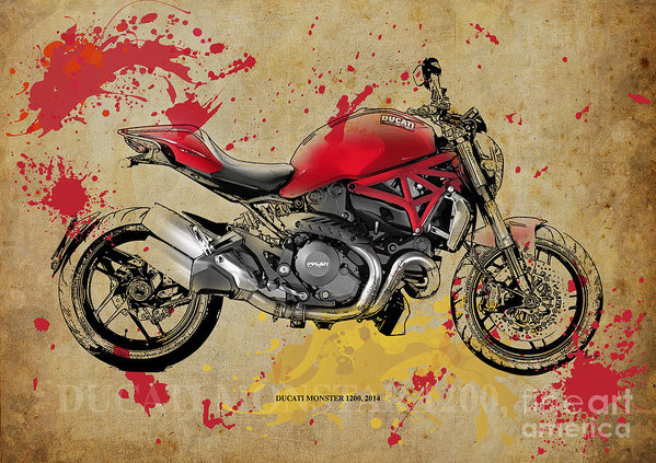 Pablo Franchi - Ducati Monster 1200 2014 Print