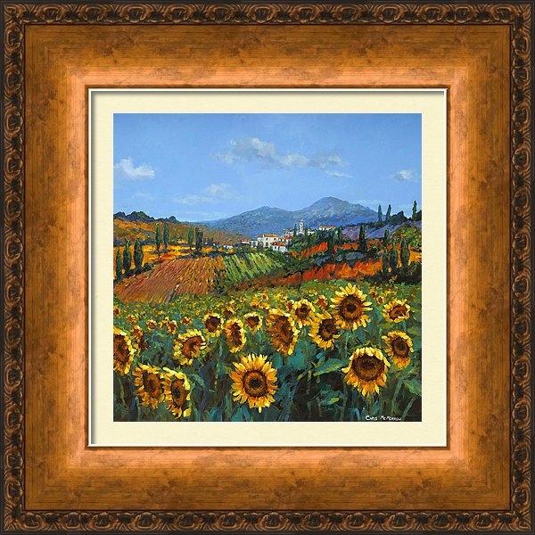 Chris Mc Morrow - Tuscan Sunflowers Print