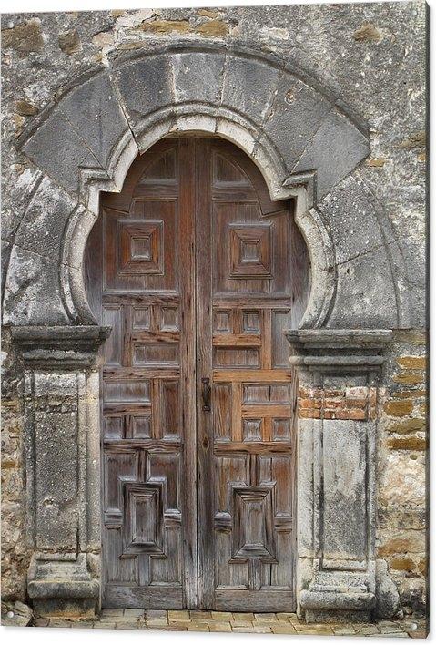 David and Carol Kelly - The Door Of Espada Missio... Print