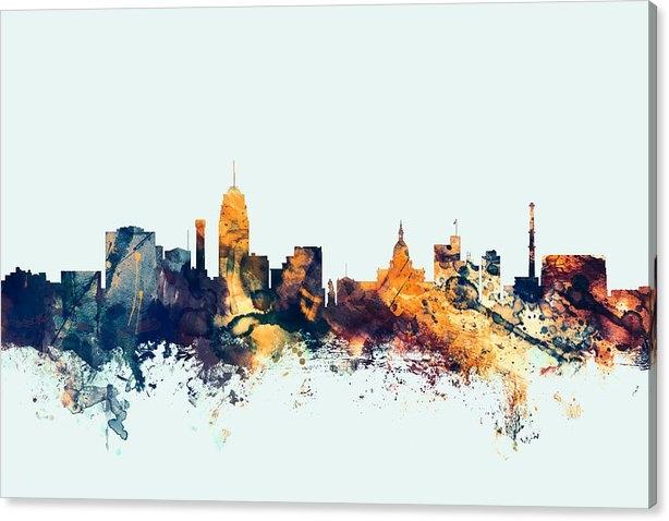 Michael Tompsett - Lansing Michigan Skyline Print