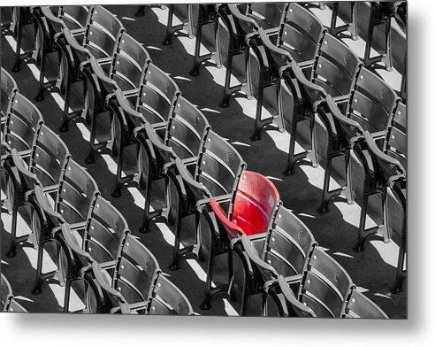 Susan Candelario - Lone Red Number 21 Fenway... Print