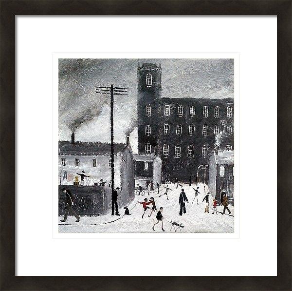 Walker Scott British Industrial Northern Art - Industrial Street Scene Print