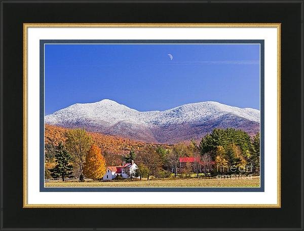 Alan L Graham - Vermont October Moonrise Print