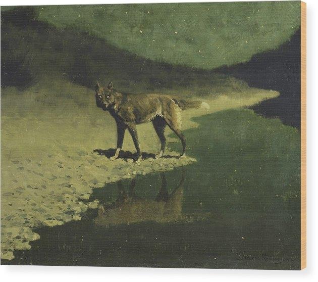 Frederic Remington - Moonlight, Wolf Print