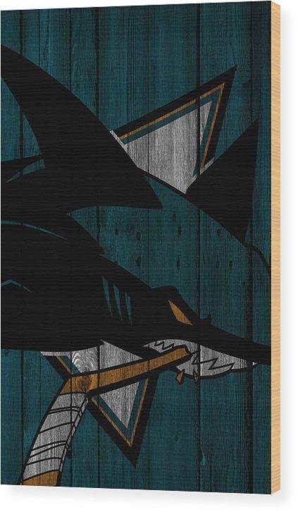 Joe Hamilton - San Jose Sharks Wood Fenc... Print